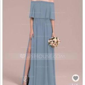 A-Line off the shoulder chiffon dress